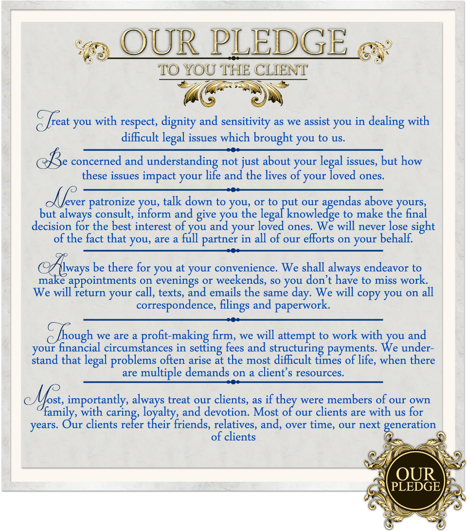 Our Pledge To You